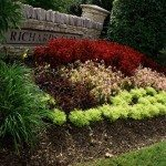 Landscaping by sign