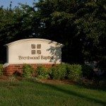 Landscaping by Brentwood Baptist sign