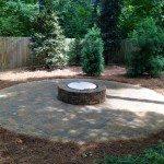 Finished Backyard Fire Pit