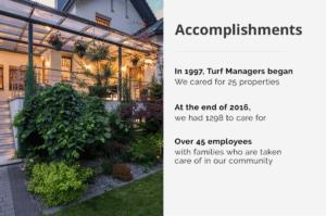 turf managers accomplishments