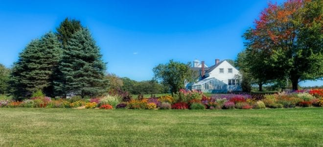 Fall Farmhouse Landscaping